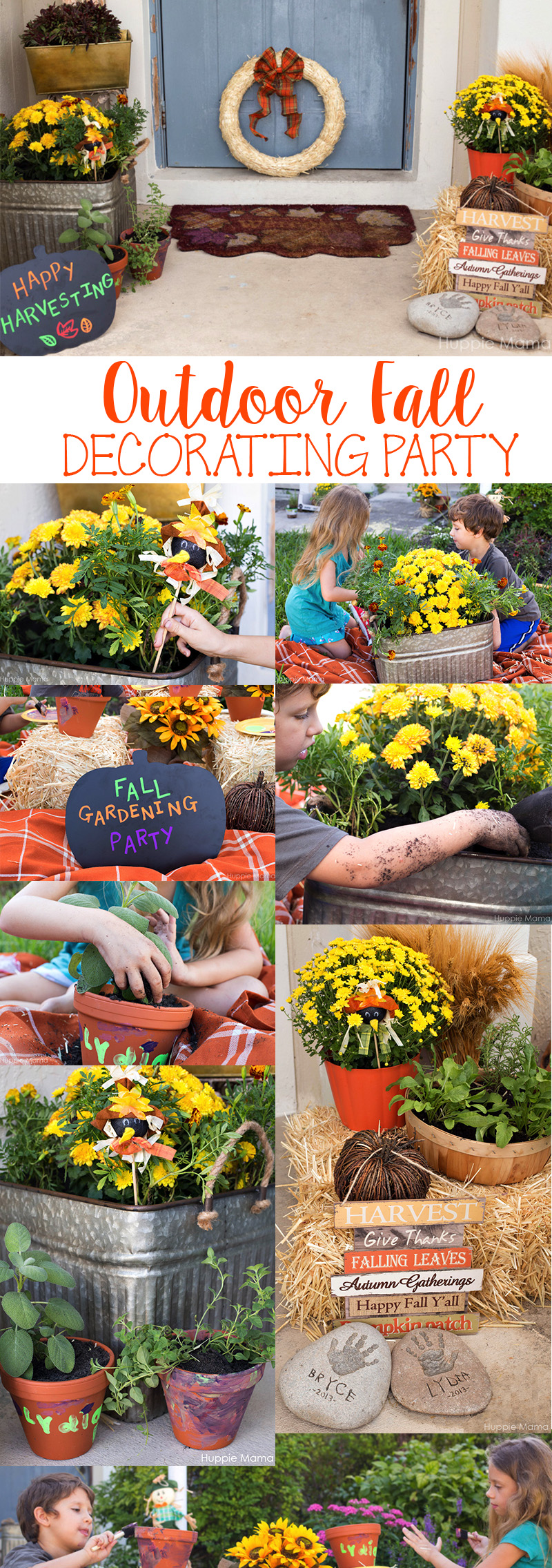Outdoor Fall Decorating Party ideas