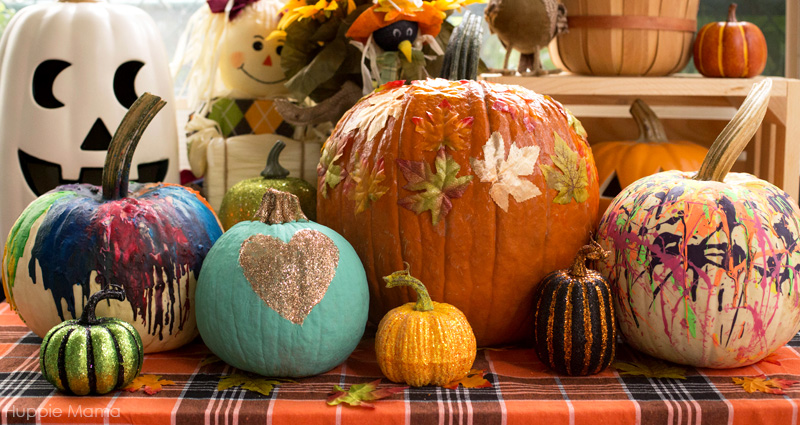 decorated-pumpkins