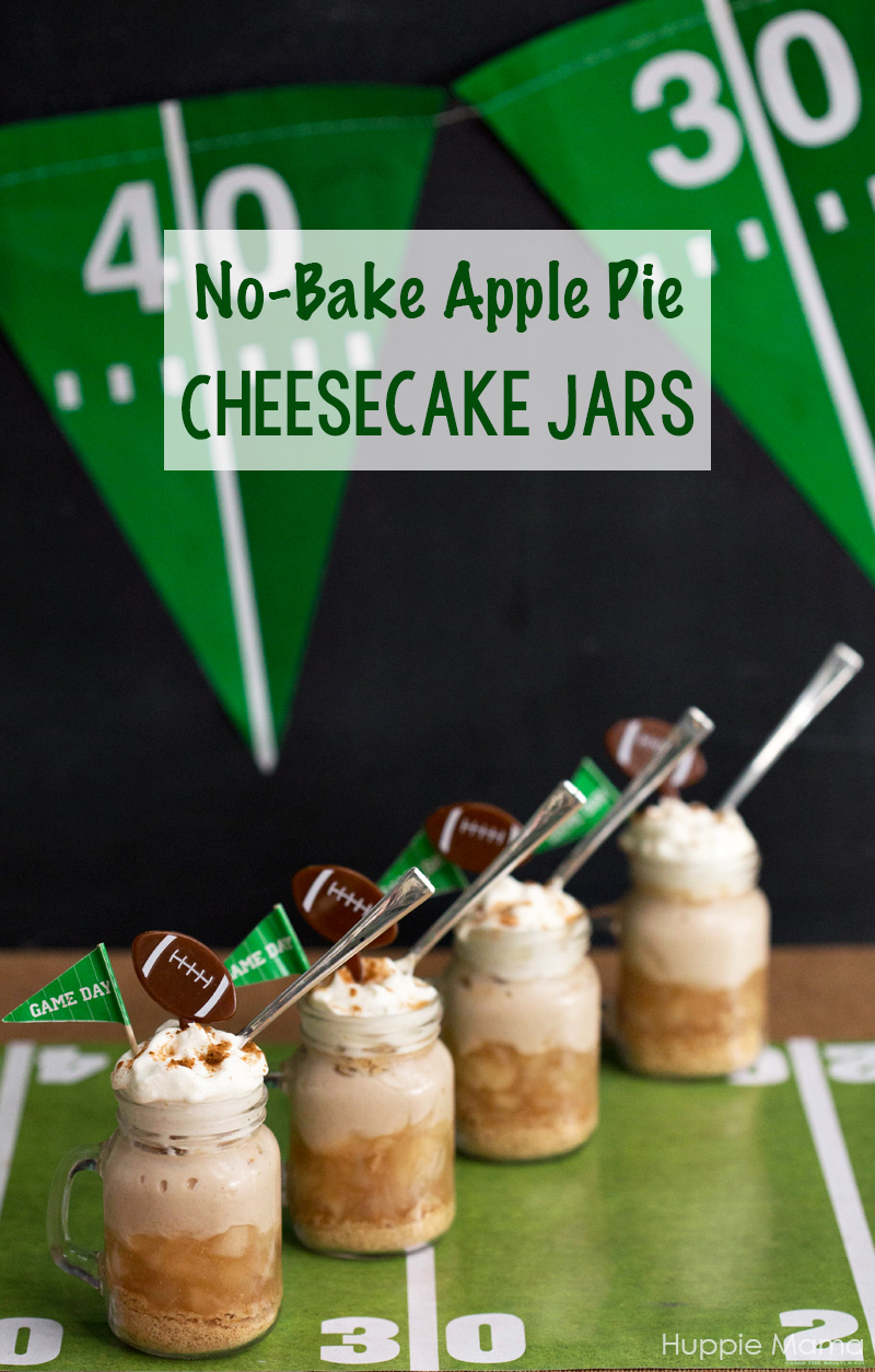 no-bake-apple-pie-cheesecake-jars