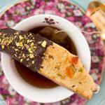 Chocolate-Dipped Pistachio Apricot Biscotti