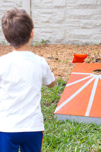 DIY Cornhole and Bean Bags