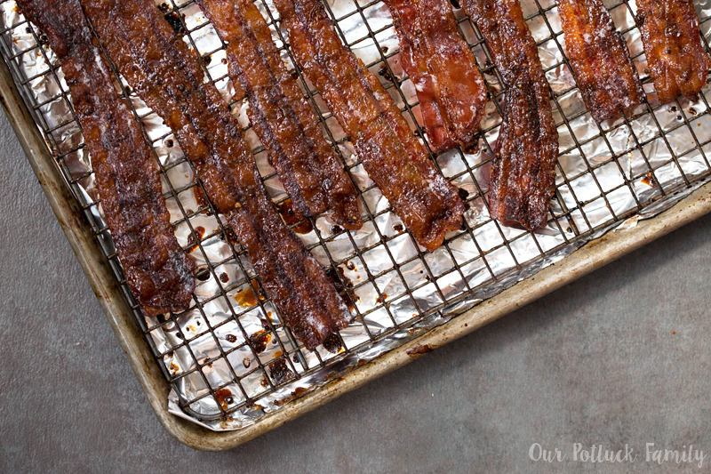 Candied Bacon cookd