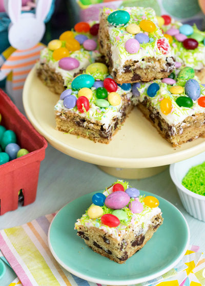Springtime Candy Blondies