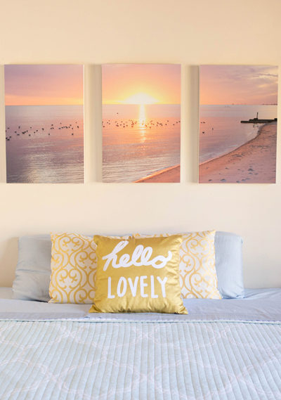 Romantic Bedroom Makeover + Triptych Tutorial