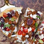 Greek Lamb Grilled Flatbread