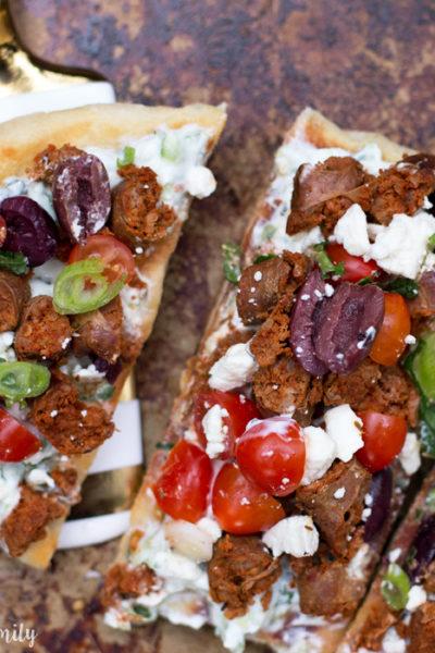 Greek Lamb Grilled Flatbread