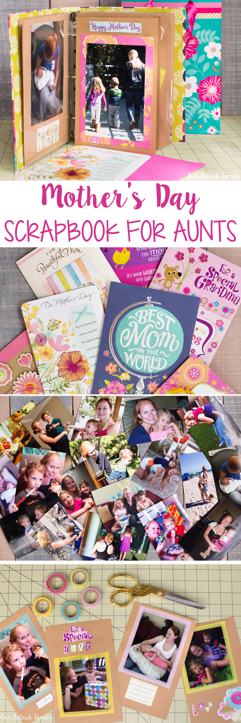 mother s day scrapbook for a special aunt our potluck family