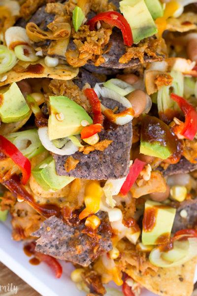 Vegetarian BBQ Pork Nachos