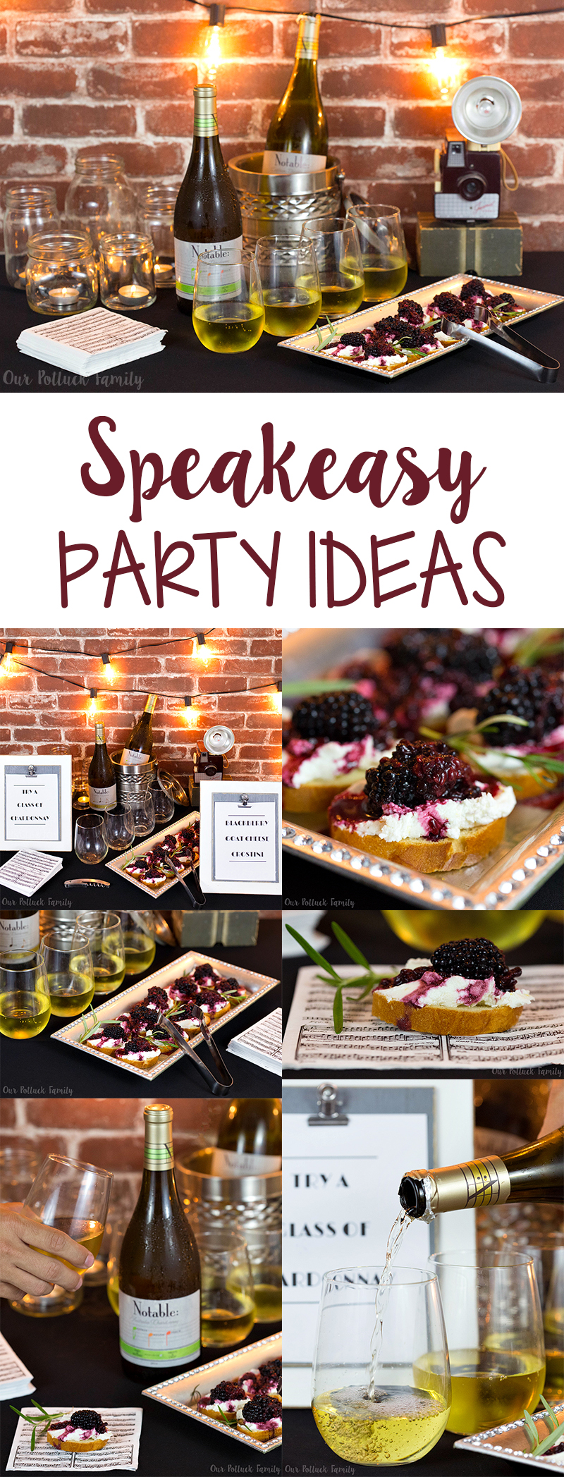 Speakeasy Party Ideas Our Potluck Family