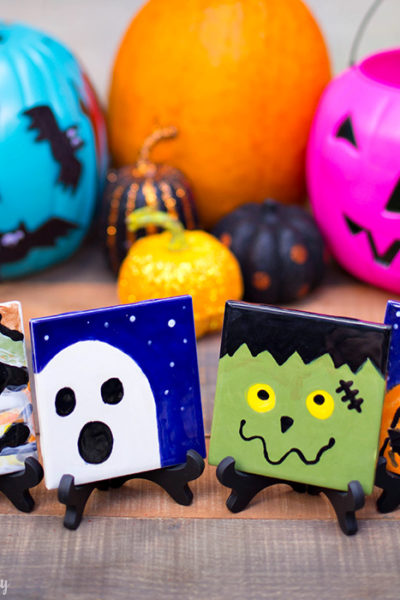 DIY Halloween Coasters