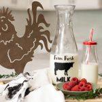 DIY Farmhouse Style Milk Bottle