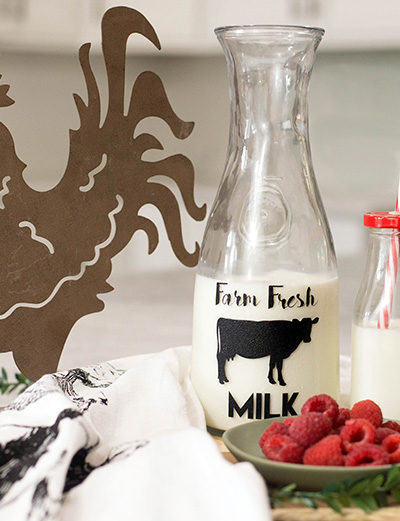 DIY Farmhouse Style Milk Bottle