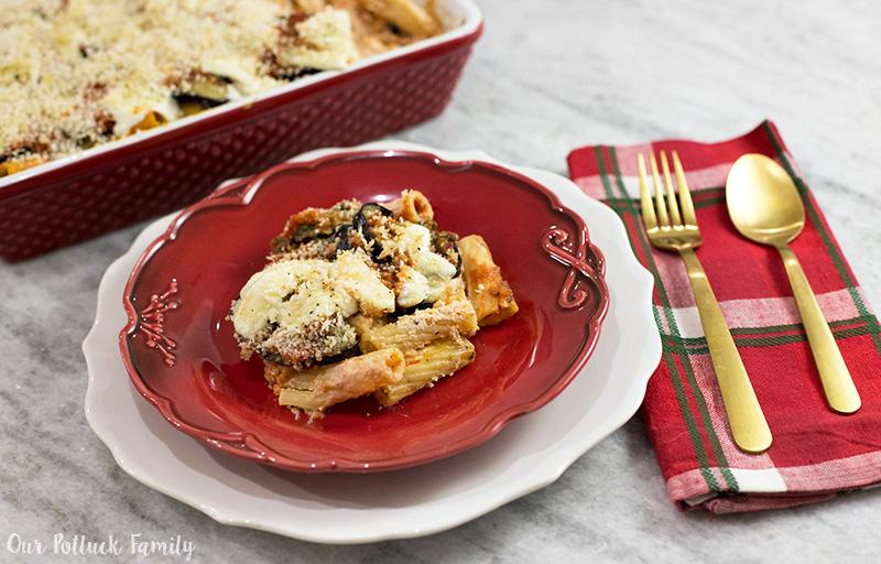 Baked Eggplant Rigatoni Parmesan
