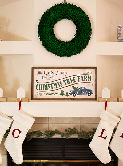 DIY Wooden Christmas Tree Farm Sign