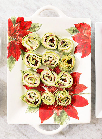 Turkey, Bacon, & Avocado Pinwheel Sandwiches