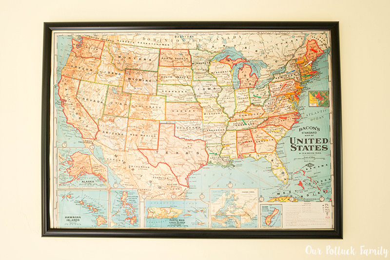 DIY Kids' Bulletin Board Map