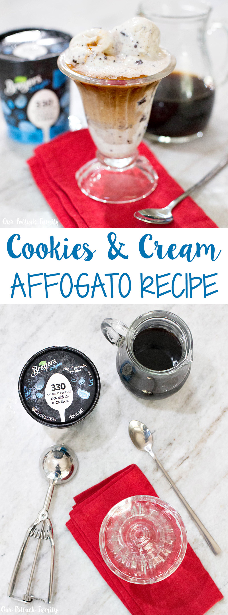 cookies ice cream affogato