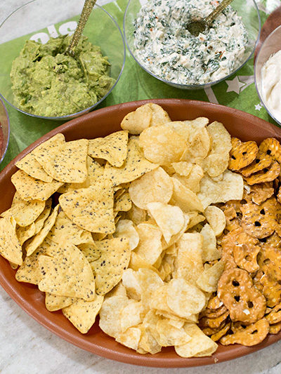 Chips and Dips Football Party