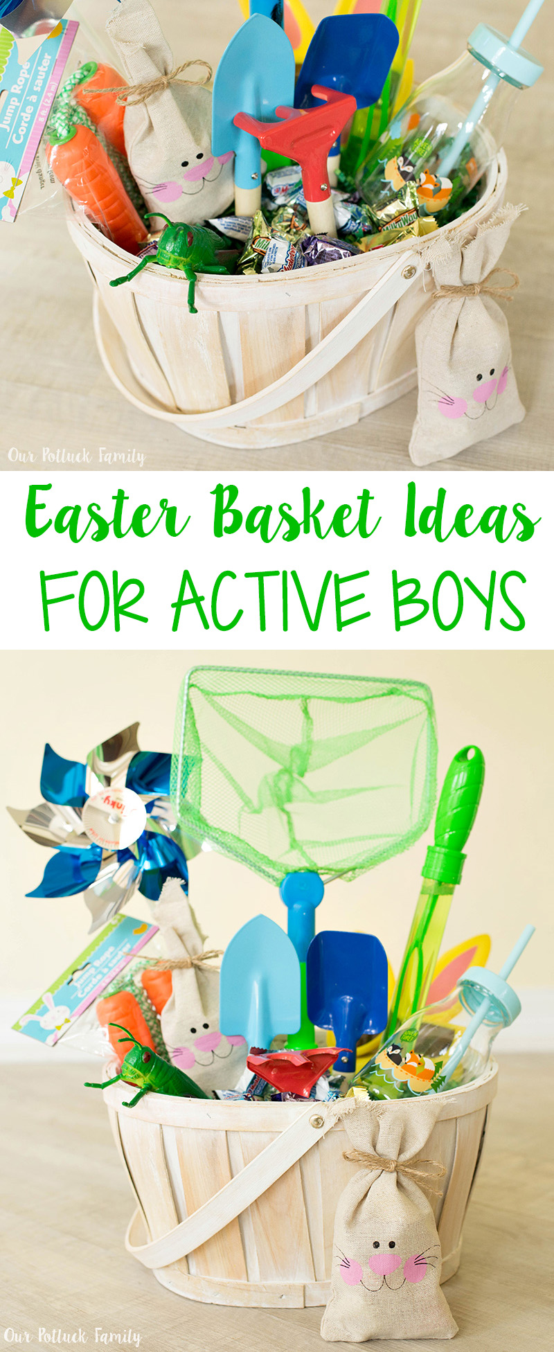Easter basket for active boys our potluck family pin this easter basket for active boys idea negle Image collections