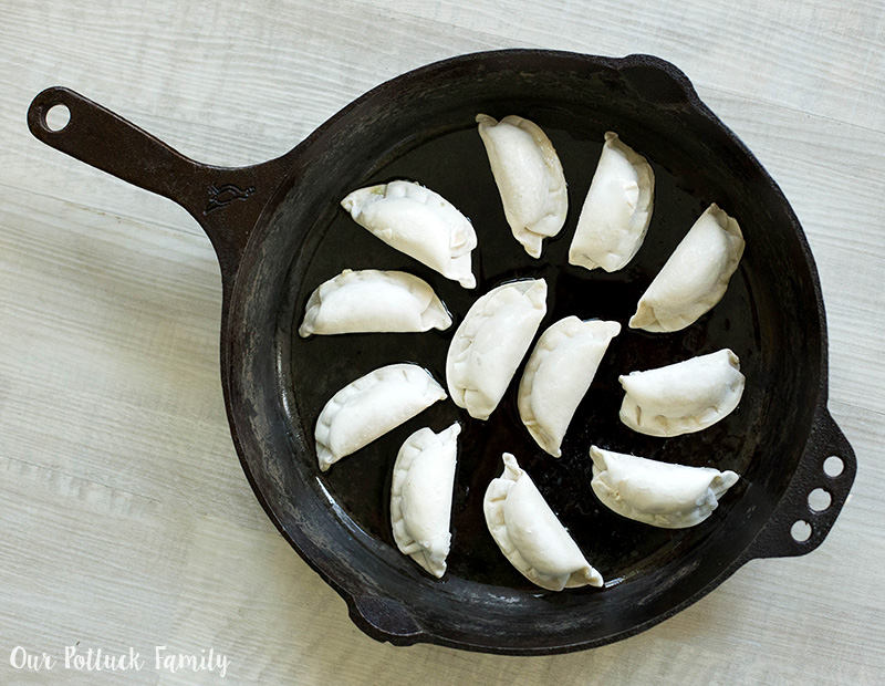 Perfect Potstickers in pan