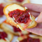 Easter Garden Party raspberry crostini