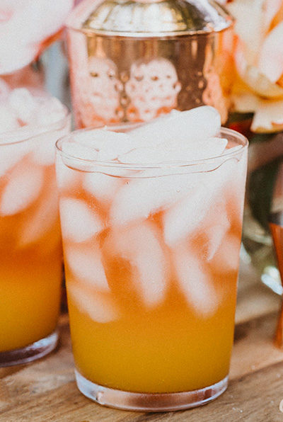 Peach Mango Sparkling Rosé Cocktail