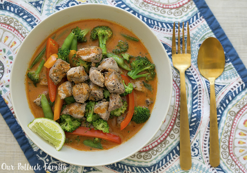 Pork Thai Red Curry bowl