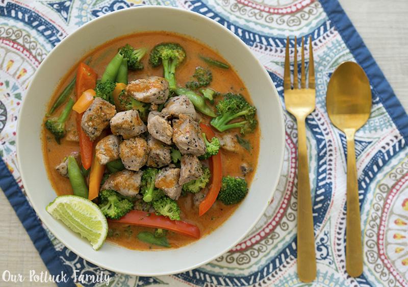 Pork Thai Red Curry bowl