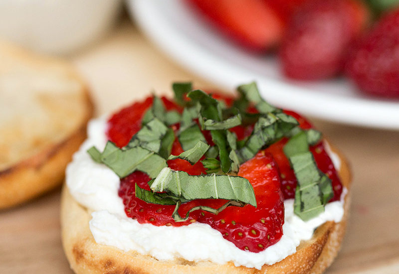 Strawberry Ricotta Basil Pizza