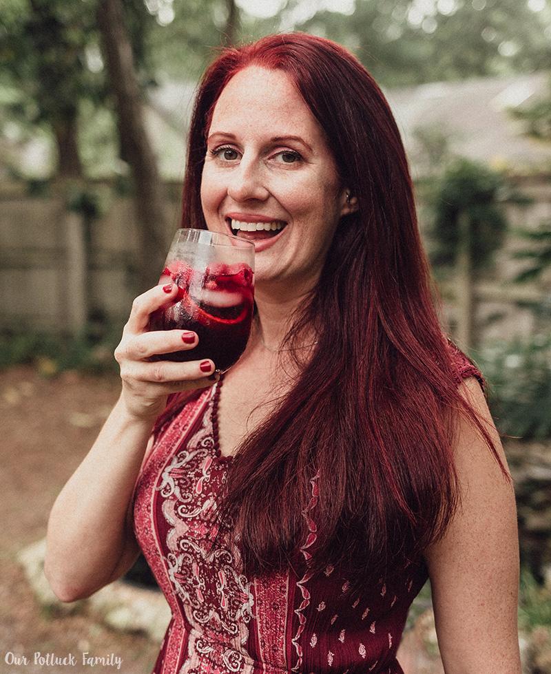 Blood Orange Red Wine Sangria laugh