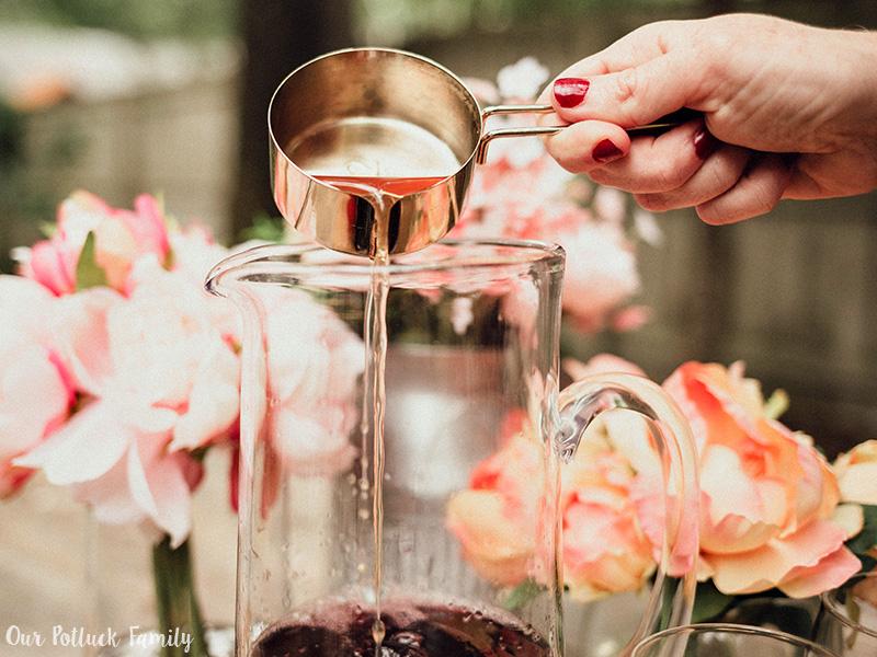 Blood Orange Red Wine Sangria simple syrup