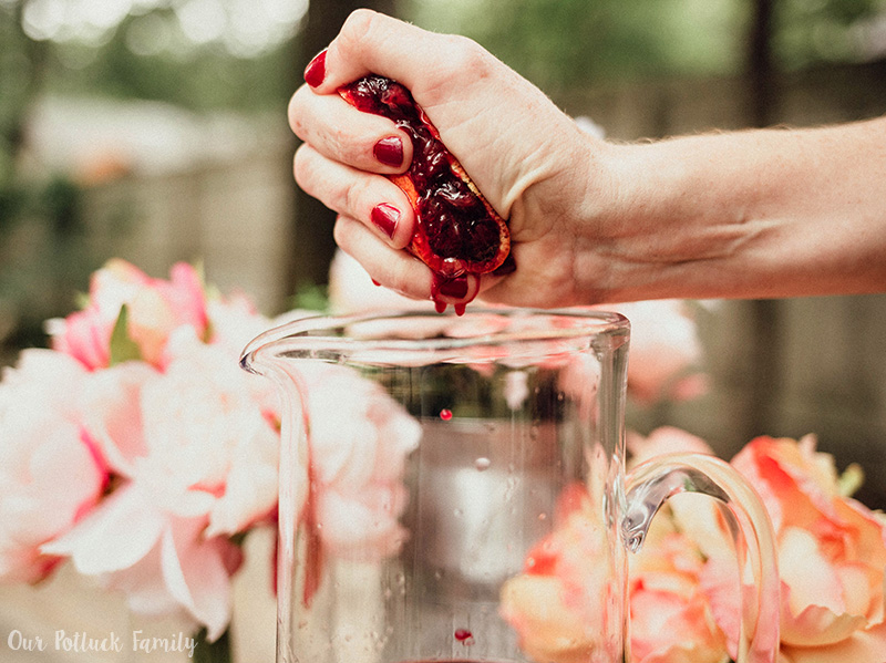 Blood Orange Red Wine Sangria squeeze