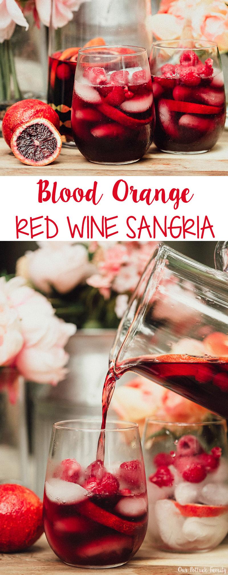 Blood Orange Red Wine Sangria