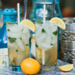 Meyer Lemon Basil Mojito cocktail