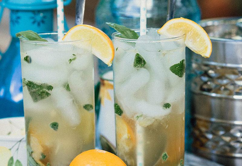 Meyer Lemon Basil Mojito cocktail