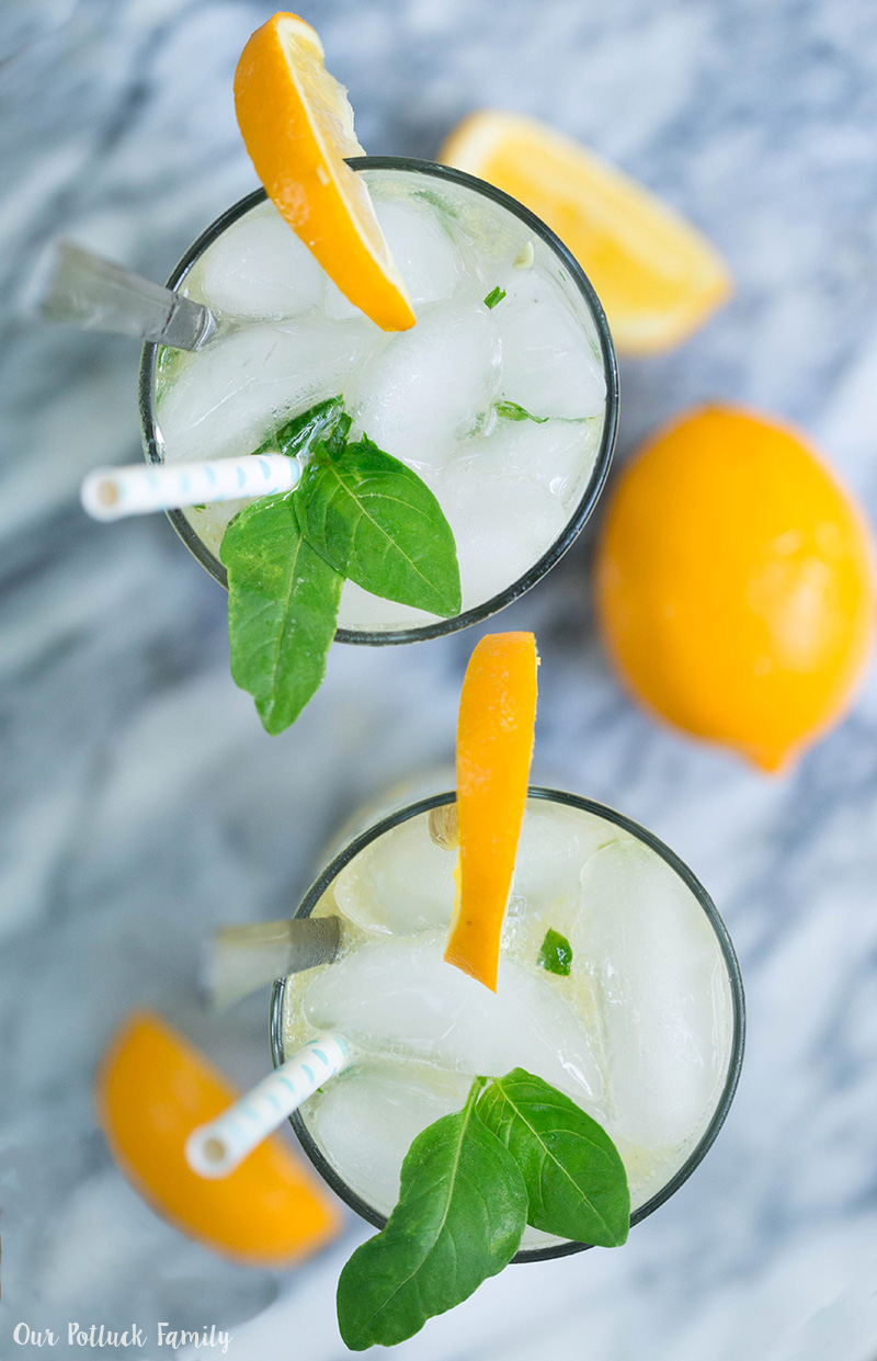 Meyer Lemon Basil Mojito drinks
