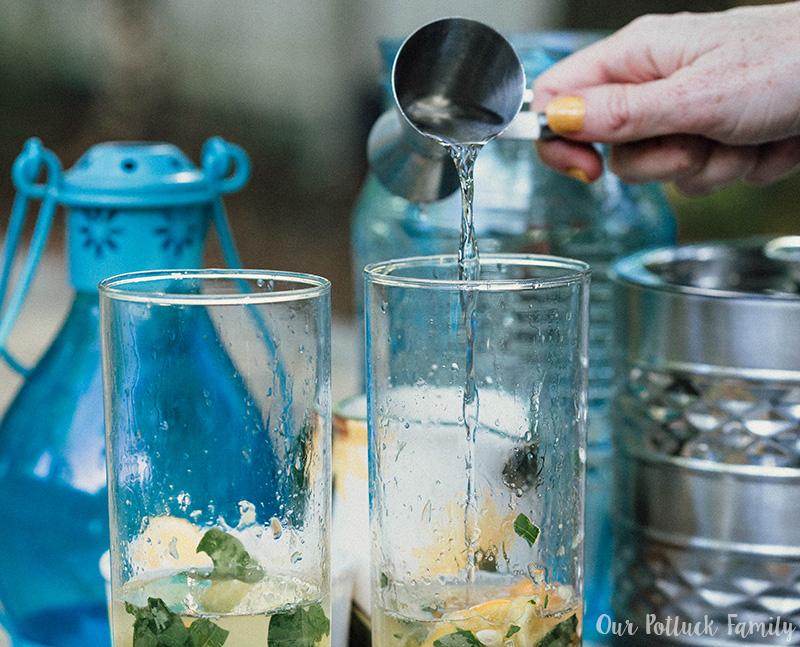 Meyer Lemon Basil Mojito rum