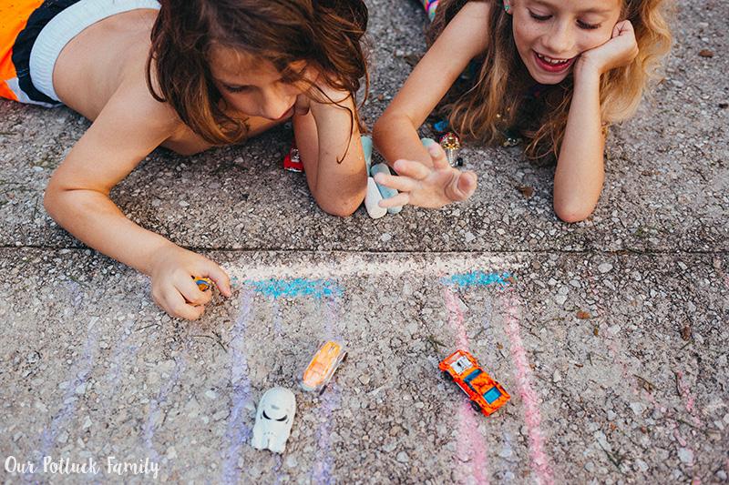 Outdoor Summer Games car race