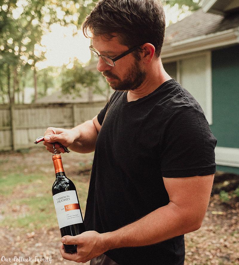 Steak and wine pairing bottle