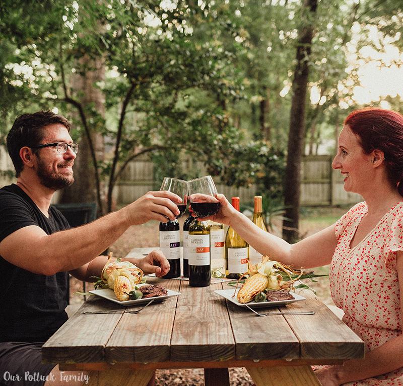 Steak and wine pairing cheers