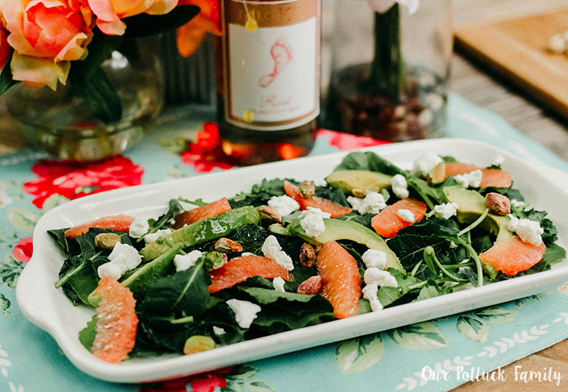 Summer Salad and Rosé dressing