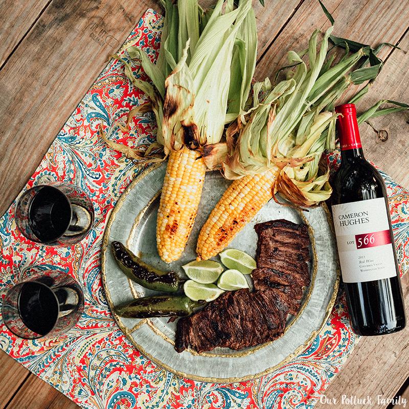 steak and wine pairing platter