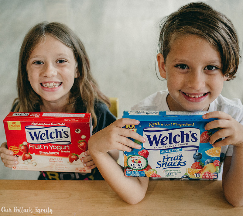 Pack School Lunches Welch's boxes