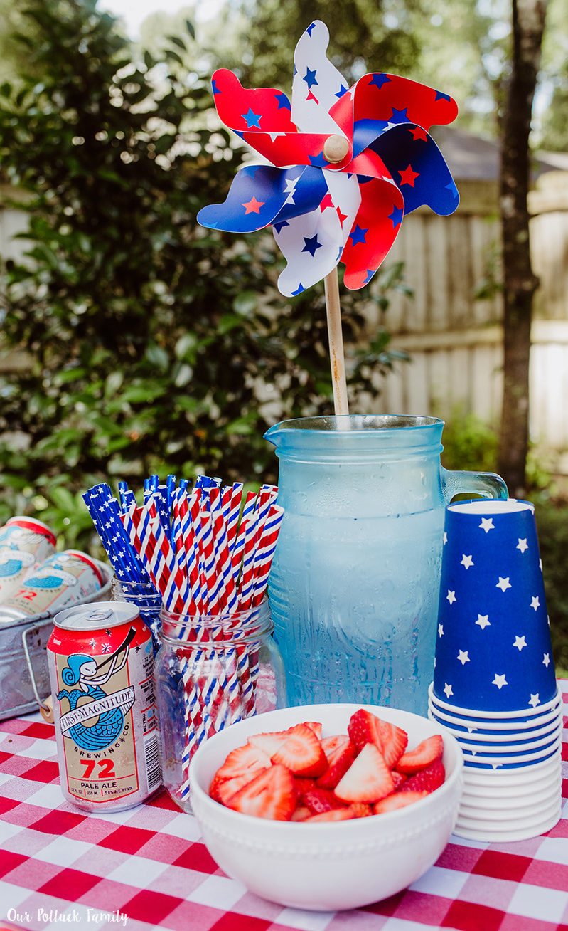 Patriotic Party beverage station