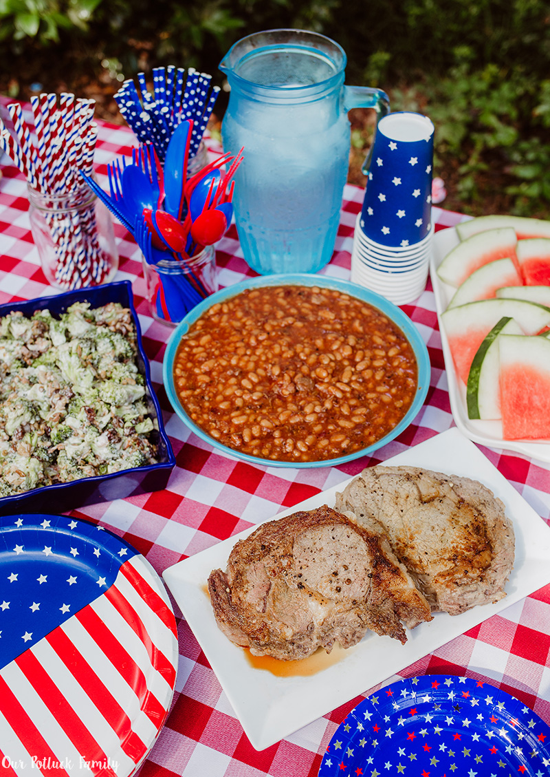 Patriotic Party foods