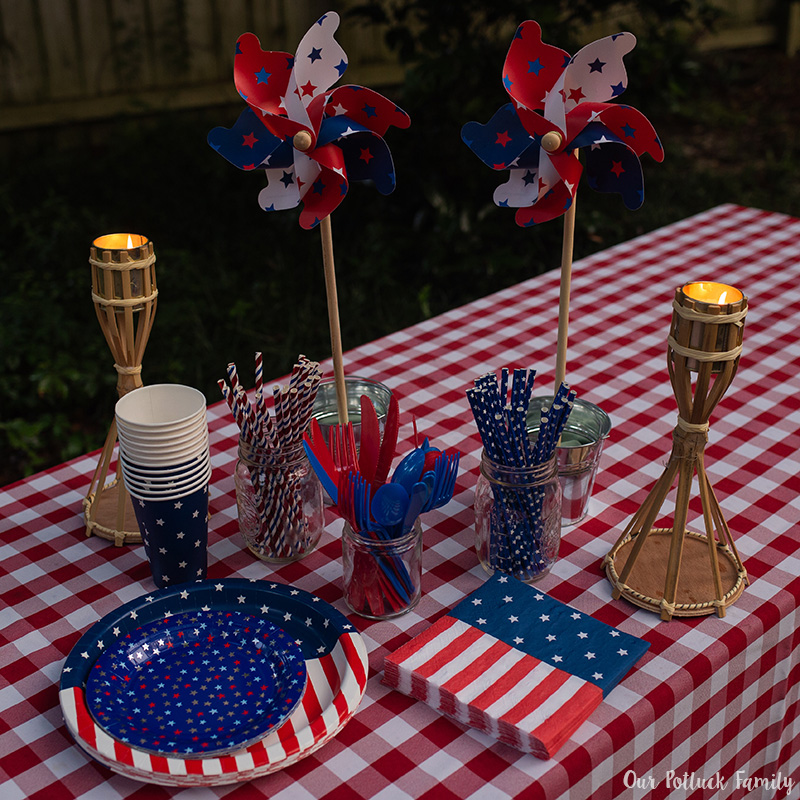 Patriotic Party torches
