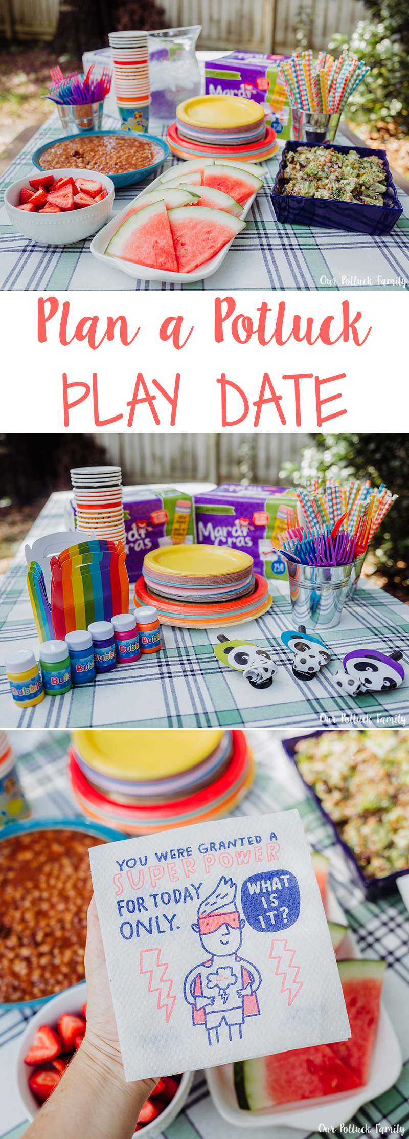 Potluck Play Date Ideas