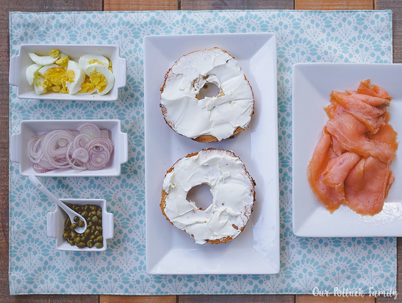 Ultimate Bagel Sandwich toppings