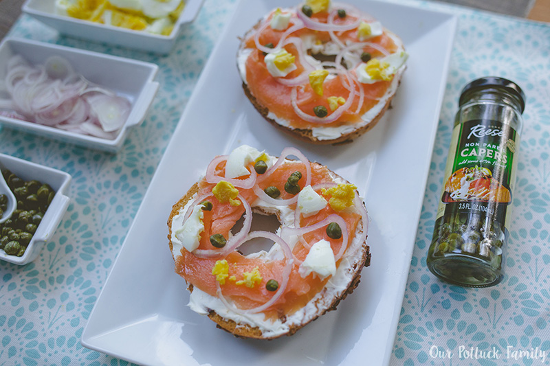 Ultimate Bagel Sandwich with capers