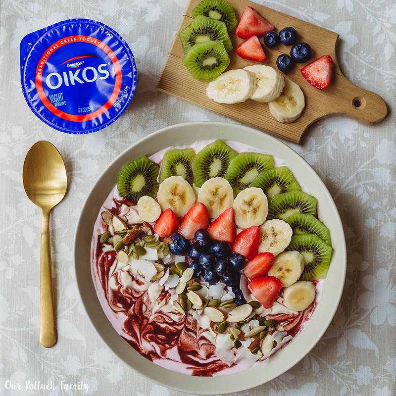 Acai Yogurt Smoothie Bowl Oikos